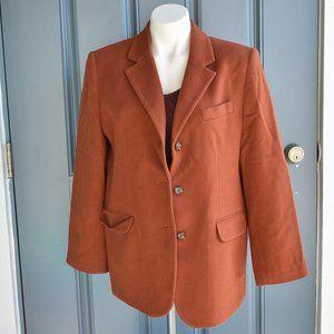 * L.L.Bean Wool/Cashmere Blend Winter Blazer Sz 12
